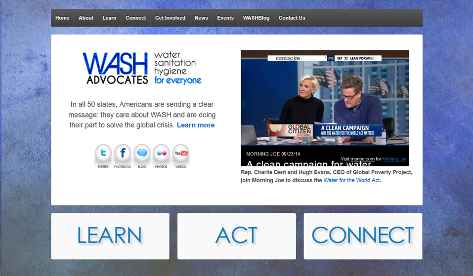 WASH Advocates website